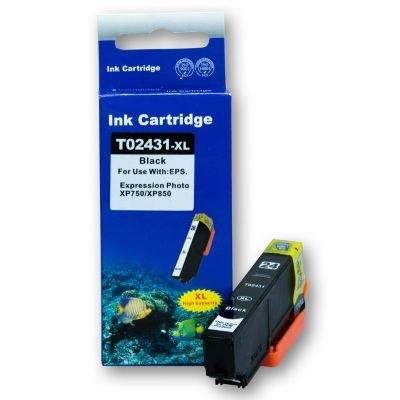 Kompatible Druckerpatrone mit Chip, ersetzt T2431 Black für Epson Expression Photo XP-750 XP-850 XP-950 C13T24314010 T2431 C13T24324010 T2432 C13T24334010 T2433 C13T24344010 T2434 C13T24354010 T2435 C13T24364010 T2436 C13T24384010 T2438