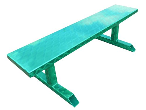 Ofab Custom Theme Tables Standard Backless Bench, Green Translucent