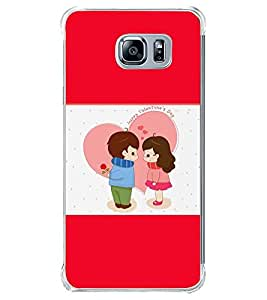 Fuson Premium Happy Valentines Day Metal Printed with Hard Plastic Back Case Cover for Samsung Galaxy Note 5