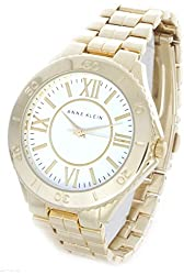 Anne Klein Women's Ak/1762 White Dial Gold-tone Bracelet Watch