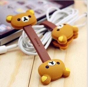 Set of 4pcs New Cute Monsters University Disney Cartoon Hello Kitty Cable Tie Cord Organizer Headset Office-003 - 1