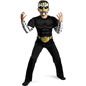 Disguise Tna Impact Wrestling Jeff Hardy Classic Muscle Costume, Black/White/Green, Small