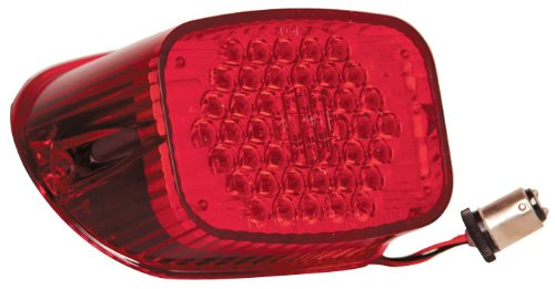 Adjure Tl-1040 Red Hexagon Pattern Replacement Led Tail Light For Harley Davidson Motorcycle