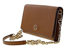 Tory Burch Robinson Chain Wallet in Tigers Eye