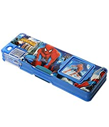 Gifts Online Multipurpose Pencil Box with calculator & dual sharpner - Spiderman
