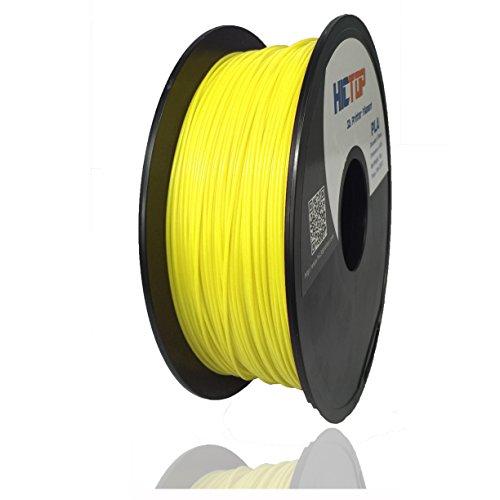 HICTOP 1,75 millimetri PLA stampante 3D filamento - 1kg bobina (2,2 lbs) - precisione dimensionale +/- 0,05 millimetri (giallo)