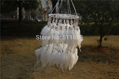 Artistic New Fashion Gift Hot White Feather Dreamcatcher Wind Chimes Indian Style Pendant Dream Catcher Gift