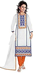 Expert Women's New Fashion Designer Fancy Wear Collection Georgette White Embroider Todays Low Price Best Offer All Type Modern Chudidar Salwar Suit