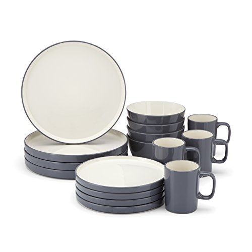 Food & Wine For Gorham Modern Farmhouse 16 Piece Dinnerware Set Dusk New
