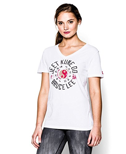 Under Armour Women'S Roots Of Fight Yin Yang V-Neck Extra Small White