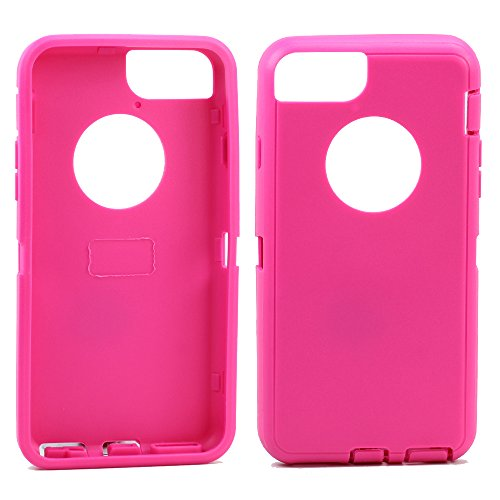 Apple iPhone 6 Plus 5.5 inch Replacement Generic Aftermarket TPE Silicone Skin for Otterbox Defender Series Case Cover For Apple iPhone 6 Plus 5.5 inch - Hot Pink Outer Skin Only (Hot Pink Otter Box compare prices)