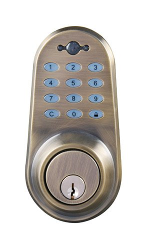 lockstate rp dbs ab digital keyless ir remote control deadbolt lock 892721002032. Black Bedroom Furniture Sets. Home Design Ideas