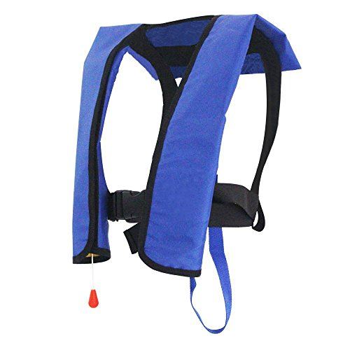 Automatic manuel auto inflate inflatable pfd survival aid for Inflatable fishing vest