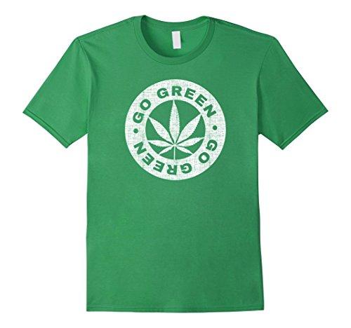 Mens-Go-Green-Pot-Leaf-T-shirts-for-Men-Women-Kids-3XL-Grass