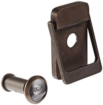 Rockwood bronze door knocker with door viewer 2 1 8 width x 3 height satin oxidized - Door knocker with viewer ...