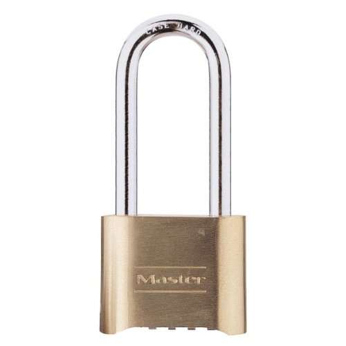 Master Lock 175LH Resettable Set-Your-Own Combination Lock, Brass,  2-1/4-inch Shackle
