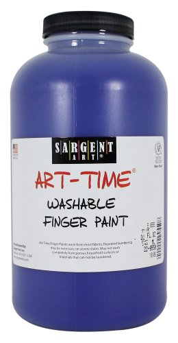Sargent Art 22-9550 32-Ounce Art Time Washable Finger Paint, Blue