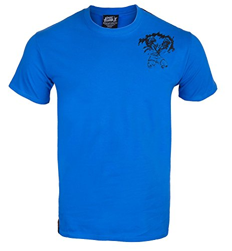 Street Fighter -  T-shirt - Crew Neck - Basic - Collo a U  - Maniche corte  - Uomo Thai Blue Medium