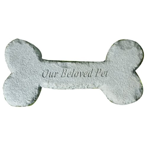Cast Stone Dog Bone Pet Memorial