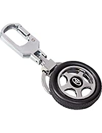 GCT Toyota Spinning Tyre Rotary Wheel Locking Metal Keychain / Keyring / Key Ring / Key Chain