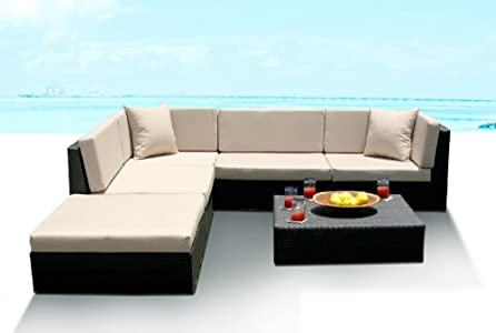 Sale Outdoor Wicker Furniture New All Weather PE Resin 6pc
