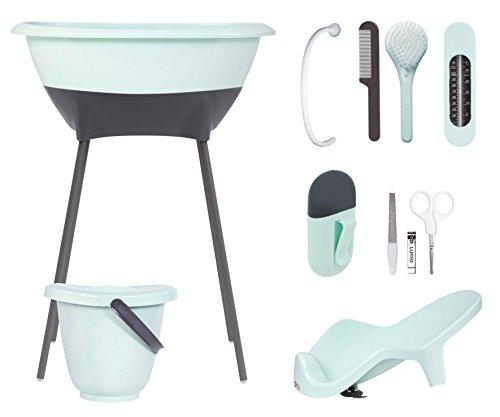 luma-babycare-l10310-bade-und-pflegeset-badewanne-wannenstander-badewannensitz-windeleimer-badetherm