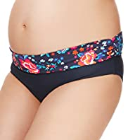 Maternity Low Rise Nautical Print Hipster Bikini Bottoms