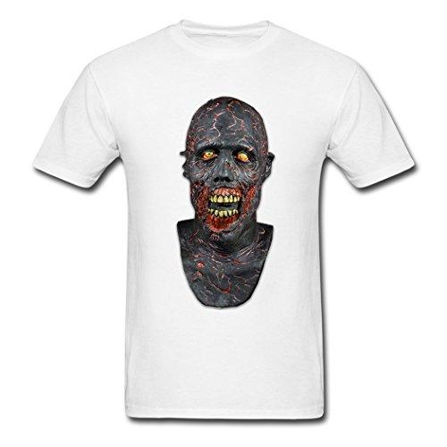 LoveTS Customize Men's Walking Dead Charred Walker Mask T-Shirts Large