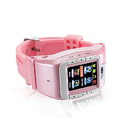 "N388 mobile watch phone with 1.3M spy camera, 1.4"" touch screen, bluetooth watches, new unlock Pink by Unknowm"