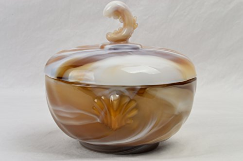 Imperial Glass Candy Dish, 1962 Chocolate Slag End of Day Candy Dish Vintage Imperial Carnival Glass