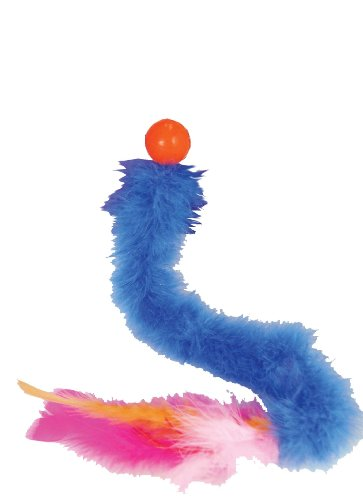 JW Pet Company Featherlite Catnip Boa Bouncing Cat Toy