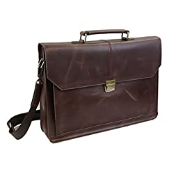 LB1 High Performance Leather Laptop Messenger Bag Business Briefcase for Panasonic ToughBook CF-19 10\