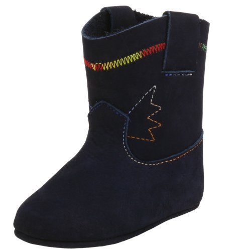 Kid Express Infant/Toddler Cowpoke Boot,Navy Nubuck,0 M US Infant