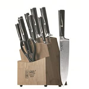 Ginsu Koga-Marquee Series 07150 10 Piece Cutlery Set with Bamboo Block