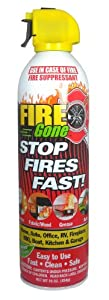 MAX Professional 7102 Fire Gone Portable Extinguisher, ABC Rated, FG-007-102 (16 oz)