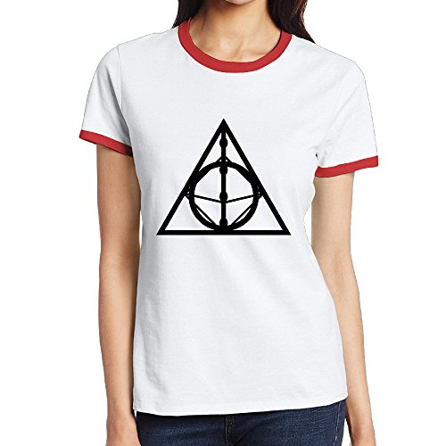 NINJOE Women's Classical Deathly Hallows Sign Sport Tee Red XL (Vitamix Wand compare prices)