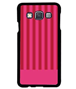 printtech Pink Lines Pattern Back Case Cover for Samsung Galaxy A3::Samsung Galaxy A3 A300F