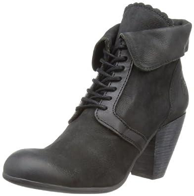 Fly London Women's Aris Black/Black Boots P142679000 6 UK, 39 EU
