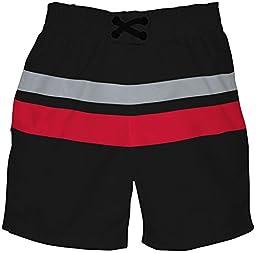 i play. Baby Boys\' Ultimate Swim Diaper Block Boardshorts Mod , Black,-Small/3-6 Months