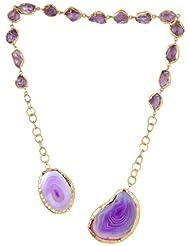 Zariin Choker Necklace For Women (Purple) (NPS038PUA)