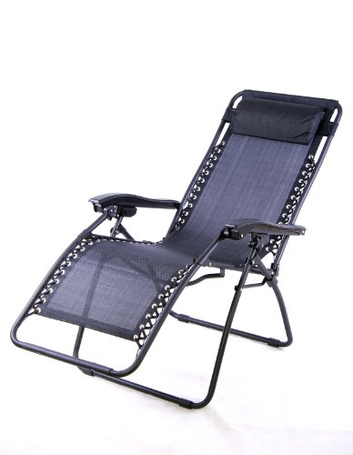 Outsunny Zero Gravity Recliner Lounge Patio Pool Chair Black The Lawn Amp Garden