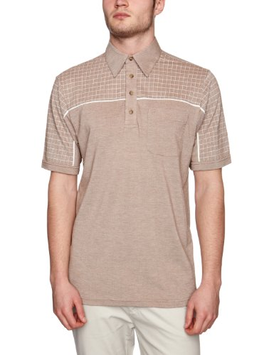 Farah The Betchley Polo Men's T-Shirt Dark Taupe Medium