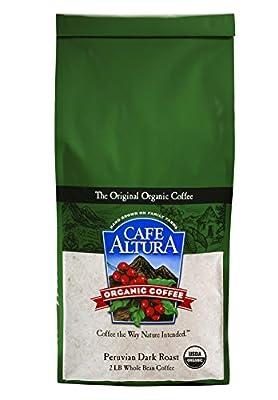 Cafe Altura Whole Bean Organic Coffee, 2 Pound