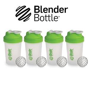 New Genuine Multi 4 Pack 20oz Small Mini Green Classic Blender Bottle Sundesa... by Blender Bottle