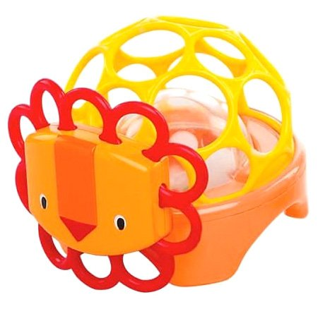 Oball Rollie Rattle - Lion - 1