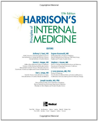 Harrison's Principles of Internal Medicine, 17th Edition...
