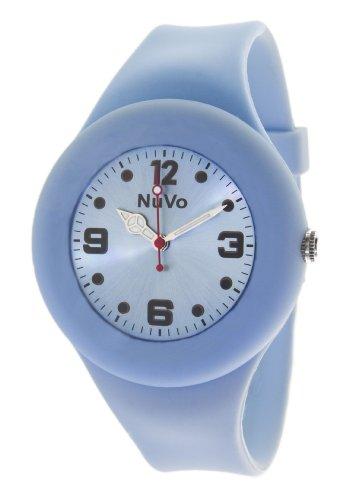Cerruti  NuVo Trend - Reloj de cuarzo unisex, con correa de silicona, color azul