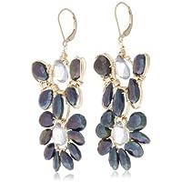 [アマンダ・ステレット] AMANDA STERETT 天然石フラワーモチーフピアス F0113 Earrings
