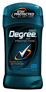 Degree AntiPerspirant & Deodorant Invisible Solid, Cool Rush, 2.7Ounce Sticks (Pack of 6)