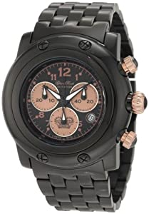 Glam Rock Women's GK1116 Miami Chronograph Black Stainless Steel Watch